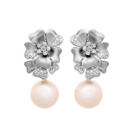 Assael 18k White Gold Pearl Earrings X