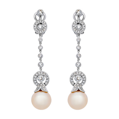 Assael 18k White Gold Pearl Earrings VII