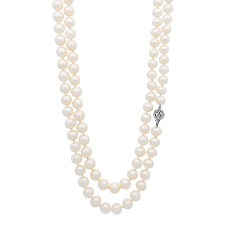 Assael 18k White Gold Pearl Necklace II