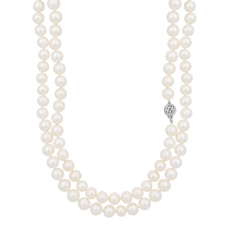 Assael 18k White Gold Pearl Necklace X