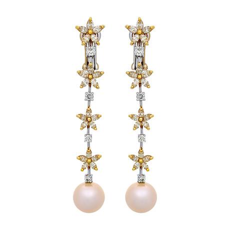 Assael 18k Two-Tone Gold Pearl Earrings I