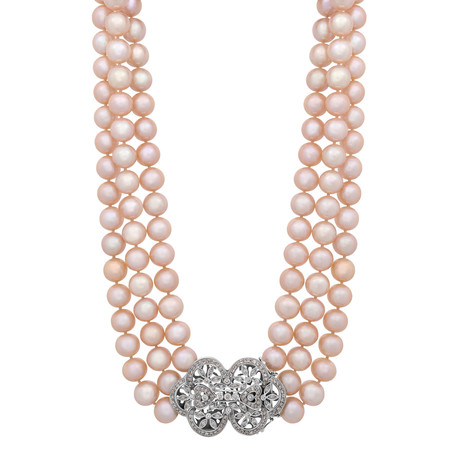 Assael 18k White Gold Pearl Necklace VII
