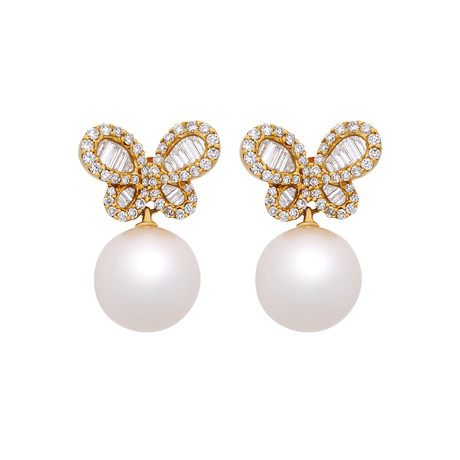 Assael 18k Yellow Gold Pearl Earrings V