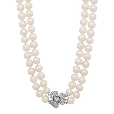 Assael 18k White Gold Pearl Necklace IX