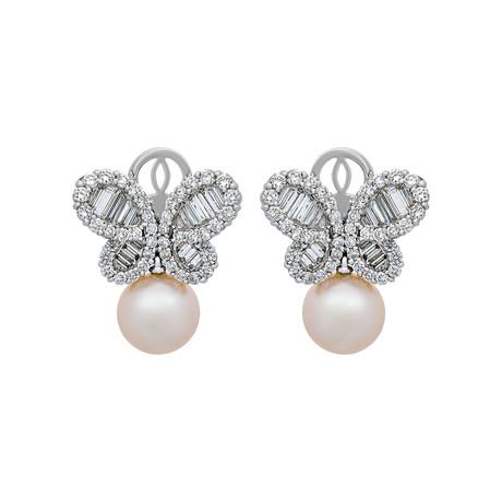Assael 18k White Gold Pearl Earrings XI