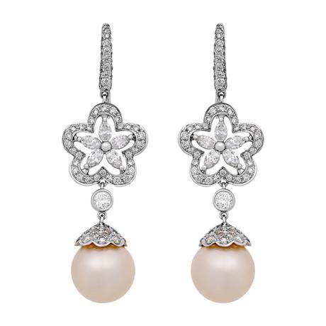 Assael 18k White Gold Pearl Earrings VIII