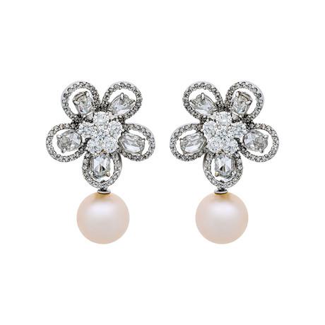 Assael 18k White Gold Pearl Earrings V