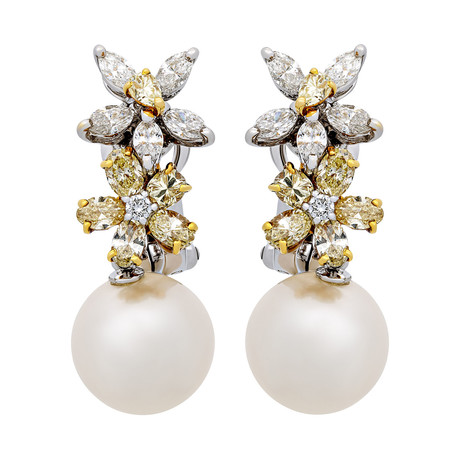 Assael 18k Two-Tone Gold Pearl Earrings II