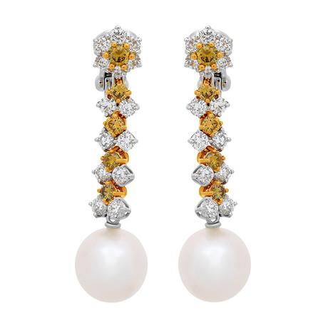 Assael 18k Two-Tone Gold Pearl Earrings III