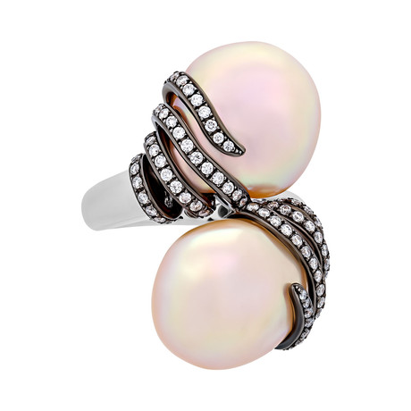 Assael 18K Two-Tone Gold Pearl Ring // Ring Size: 6
