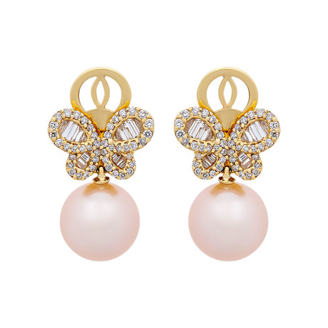 Assael 18k Yellow Gold Pearl Earrings VI