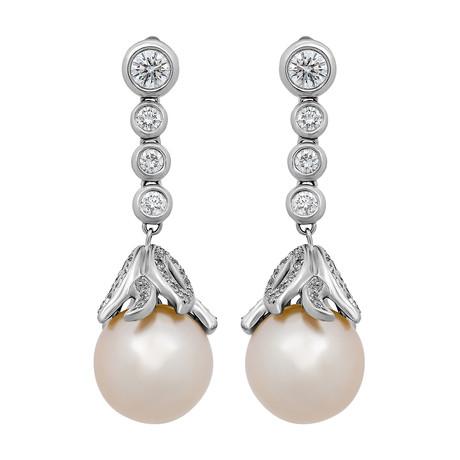 Assael 18k White Gold Pearl Earrings IV