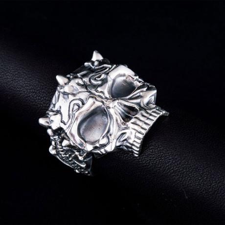 Skull Biker Ring // Silver (6)