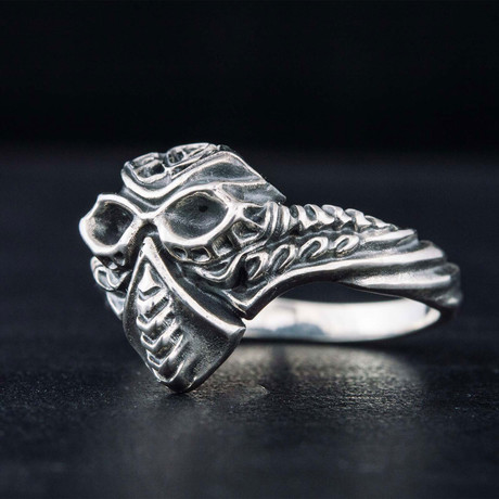 Mask Ring // Silver (6)