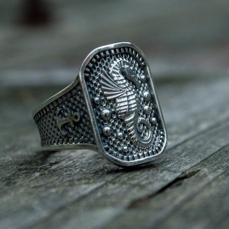 Seahorse + Anchor Ring // Silver (6)