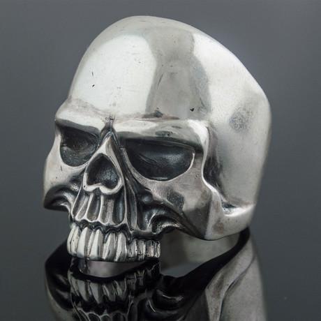 Biker Skull Ring // Silver (6)