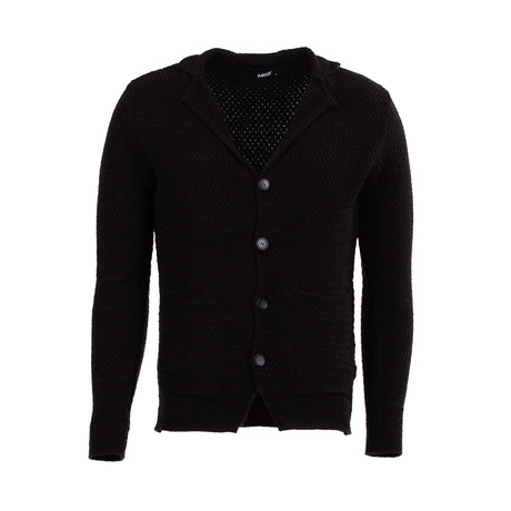 Cory Wool Tricot Cardigan // Black (S)