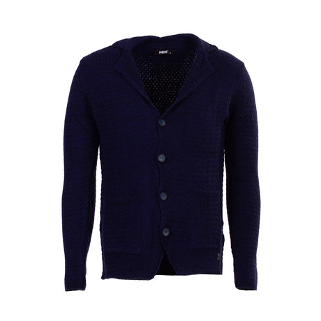 Sonny Wool Tricot Cardigan // Dark Blue (S)