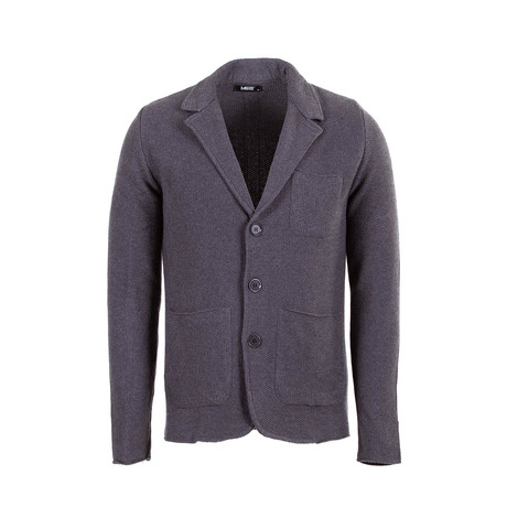 Larry Tricot Cardigan // Anthracite (S)