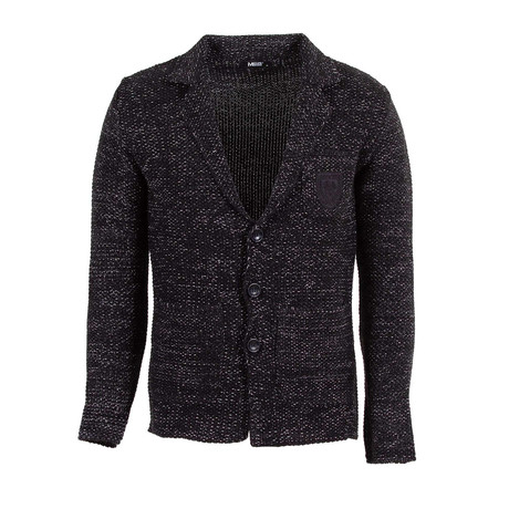 Curtis Wool Tricot Cardigan // Black (S)