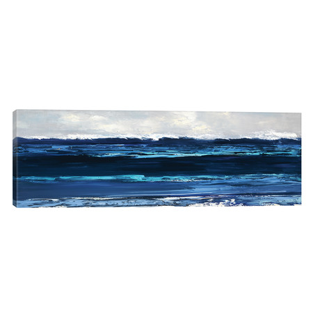 "Summer Surf // Sally Swatland (60""W x 20""H x 0.75""D)"