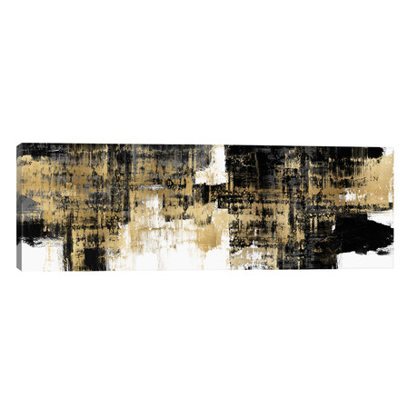 "Amplified Gold on Black // Alex Wise (60""W x 20""H x 0.75""D)"