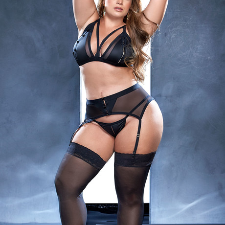 Nora 3-Piece Set // Black // Plus Size (1X-2X)