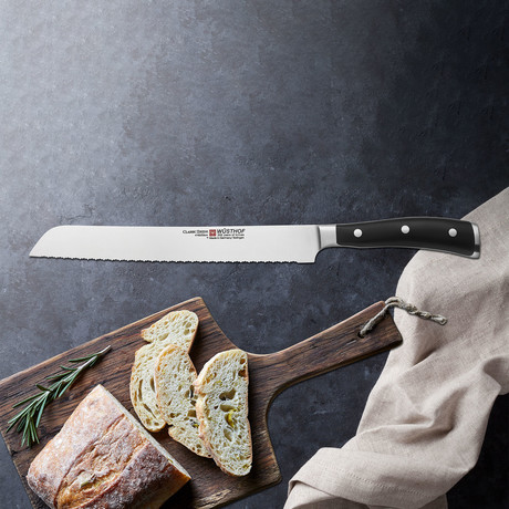 Classic Ikon // Double Serrated Bread Knife // 9""