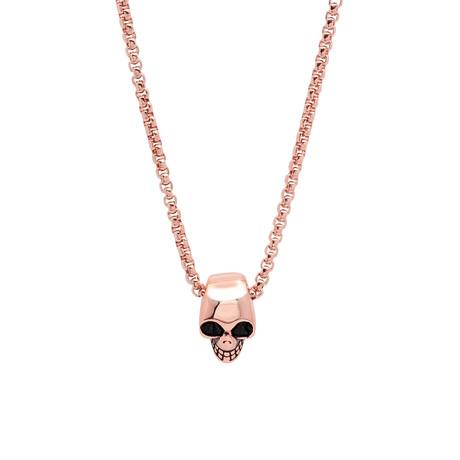 Skull Necklace // Rose