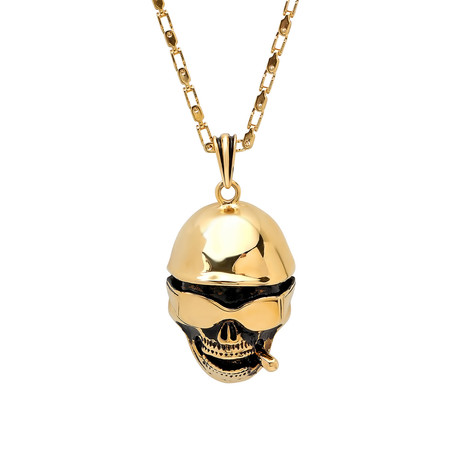 Skull Necklace // Yellow