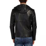 Skimmer Leather Jacket // Black (3XL)
