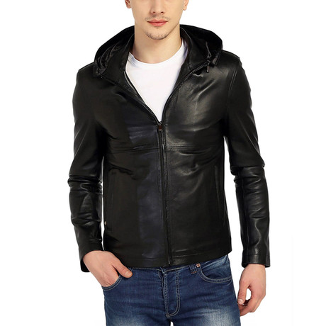 Skimmer Leather Jacket // Black (XS)
