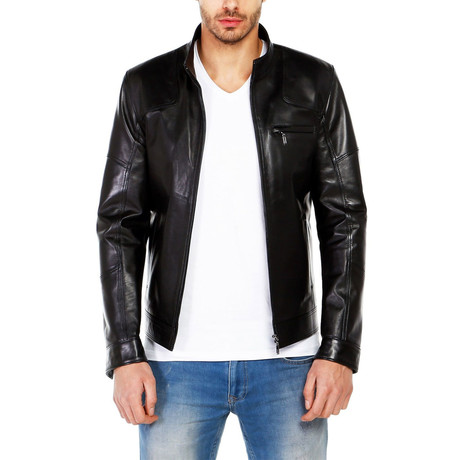 Raven Leather Jacket // Black (XS)