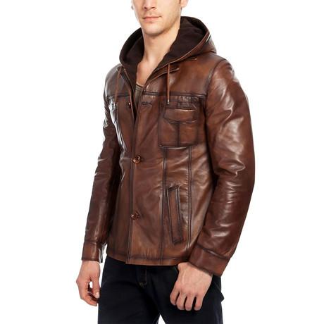 Erik Leather Jacket // Brown (XS)