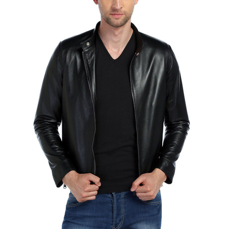 Amao Leather Jacket // Black (XS)
