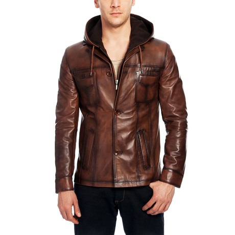 Erik Leather Jacket // Brown (XS)