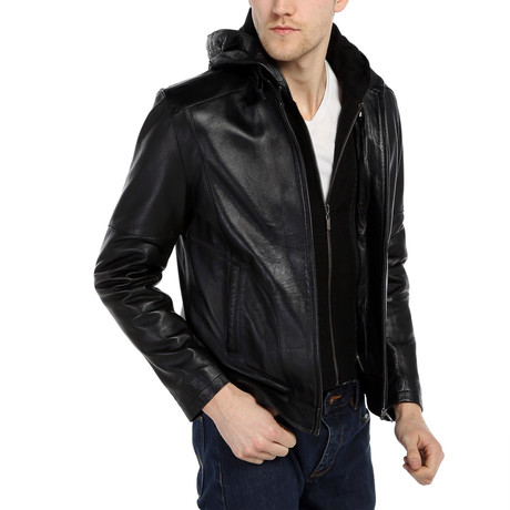 Dylan Leather Jacket // Black (XS)