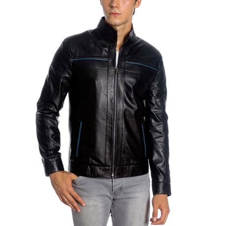 Tahmid Leather Jacket // Black (XS)
