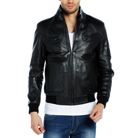 Mattie Leather Jacket // Black (XS)
