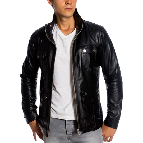 Montel Leather Jacket // Black (XS)