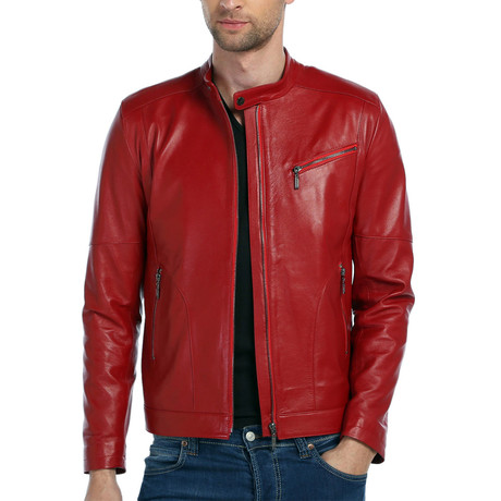 Kando Leather Jacket // Red (XS)