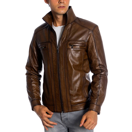 Kristof Leather Jacket // Antique (XS)