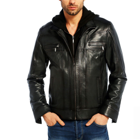 Morgan Leather Jacket // Black (XS)
