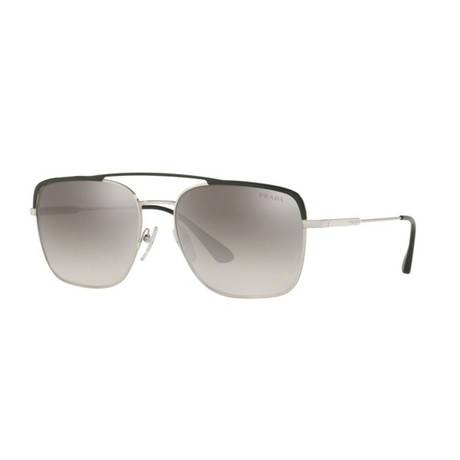Prada // Men's Sunglasses // Silver + Gray Gradient Mirror