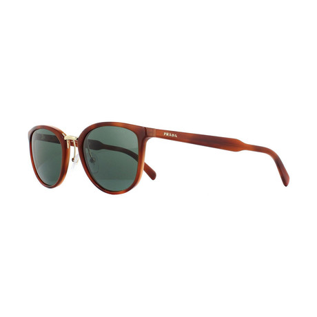 Prada // Women's Sunglasses // Striped Light Brown + Green