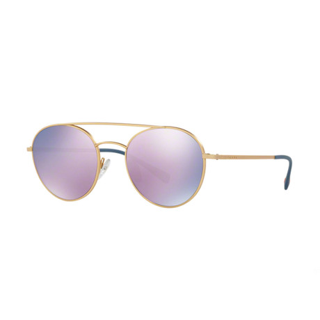 Prada // Men's Sunglasses // Matte Gold + Pink Mirror
