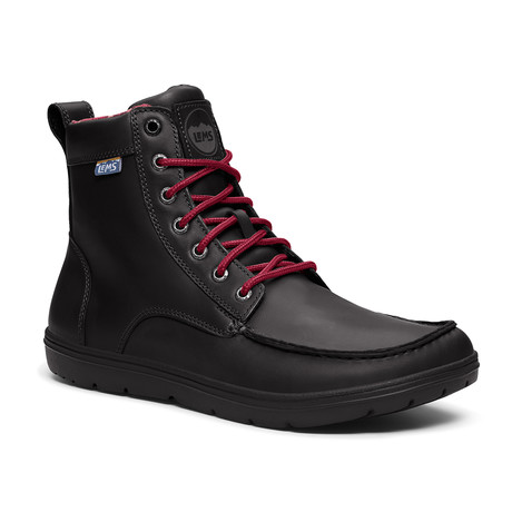 Boulder Boot // Leather Raven (Size M3.5/W5)