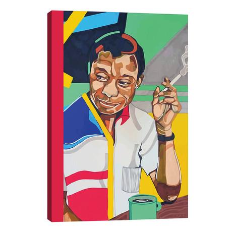 """James Baldwin // Domonique Brown (26""""W x 40""""H x 1.5""""D)"""