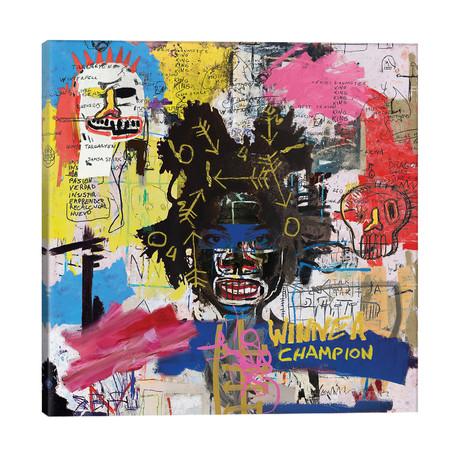 "Portrait of Basquiat // PinkPankPunk (26""W x 26""H x 1.5""D)"