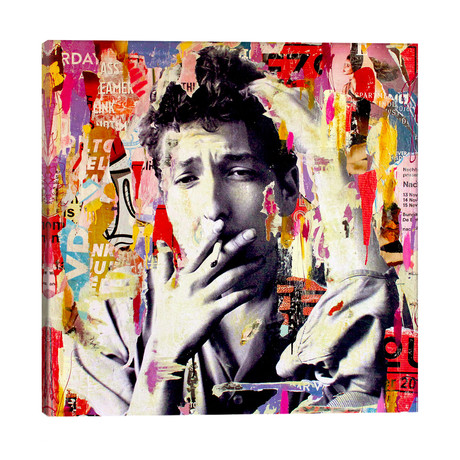 """Bob Dylan // Michiel Folkers (26""""W x 26""""H x 1.5""""D)"""